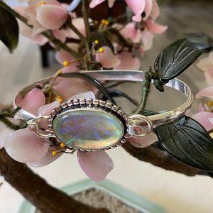 Vintage 925 Australian tribal opal bracelet